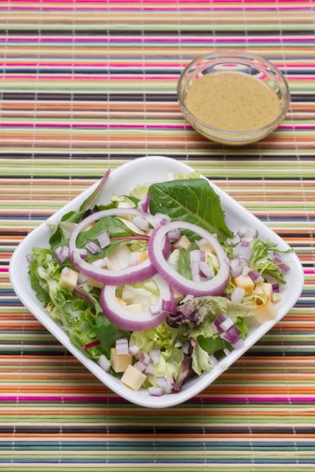 Lettuce  Salad with Mustard Vinaigrette Dressing