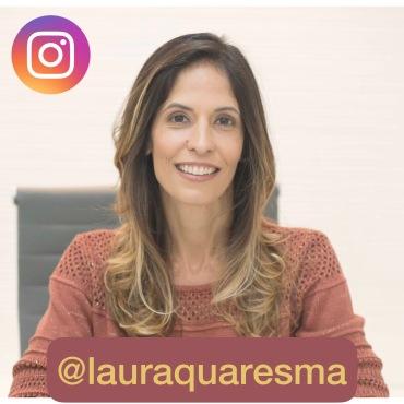 foto laura com logo instagram